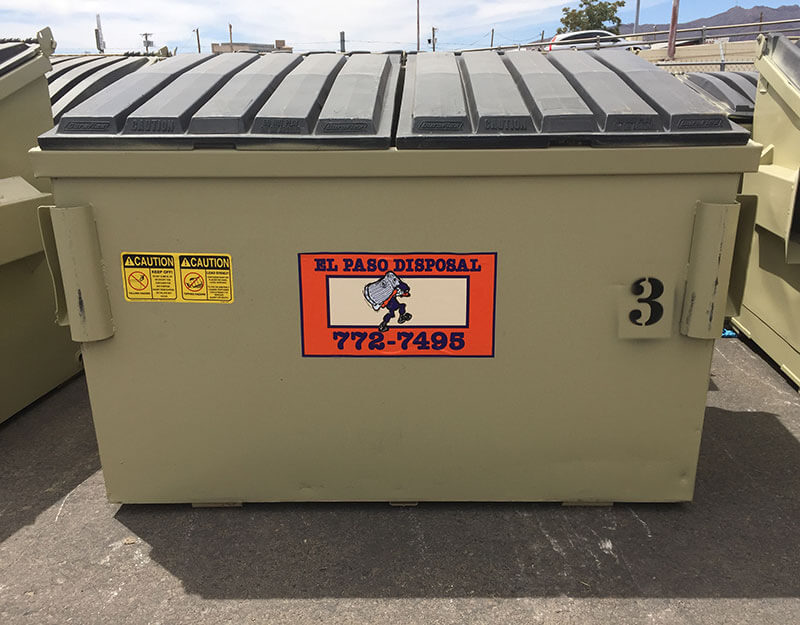3 Yard El Paso Disposal Dumpster